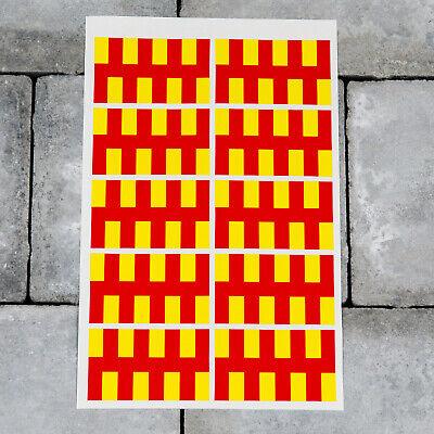 10 x Lincolnshire County Flag Vinyl Stickers Decals Window Car Van SKU6045