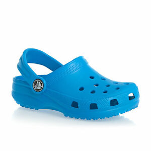Hurt Stany Zjednoczone nowe promocje Details about Crocs Kids UK 1.5 to 2 M2/W4 Ocean Blue Roomy Fit Clog Summer  Sandals Shoes BNWT