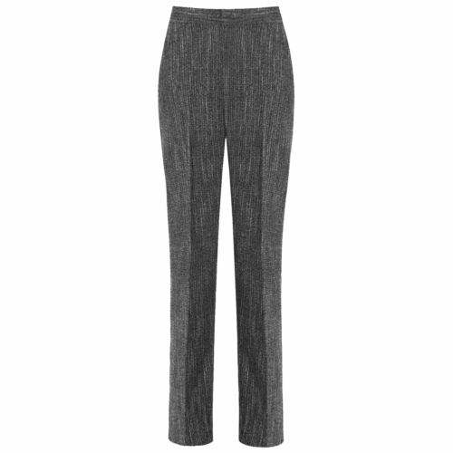 NEW WOMEN LADIES TROUSERS GIRLS CLASSIC THICK WINTER WARM HALF ELASTICATED PANTS