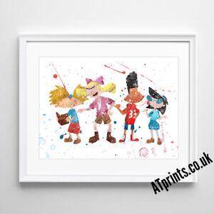 Rocky Balboa Print Poster Watercolour Framed Canvas Wall Art Gift idea TV