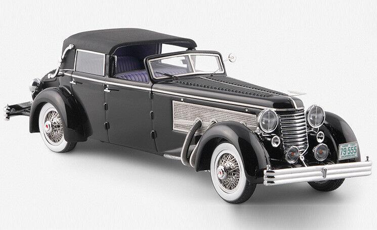 1 43 esval modelle emus43004b 1937 duesenberg sj stadt karosserie ovp 2405