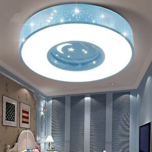 Kids Modern Childrens Room Led Star Moon Bedroom Decorative Ceiling Light Lamp Ebay