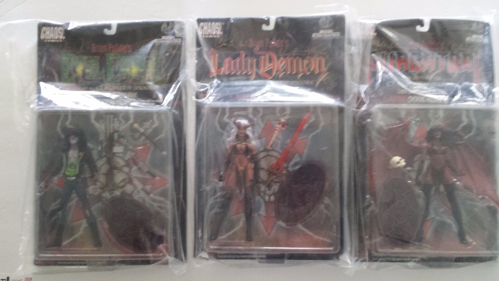 Brian Pulido's 1997 3 Lot Limited 1500 W Autographs sealed Lady Demon NIP.