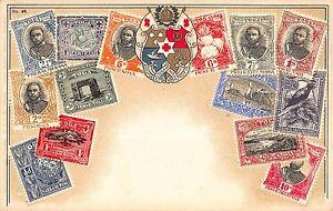 Stamp-Card-Postcard-Showing-Tonga-Postage-Stamps-107977