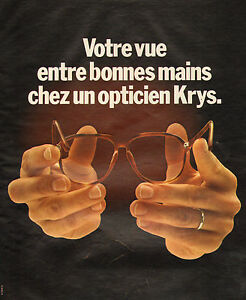 Publicité Advertising 1978 Opticien KRYS lunette monture optique   eBay c6242e67415e