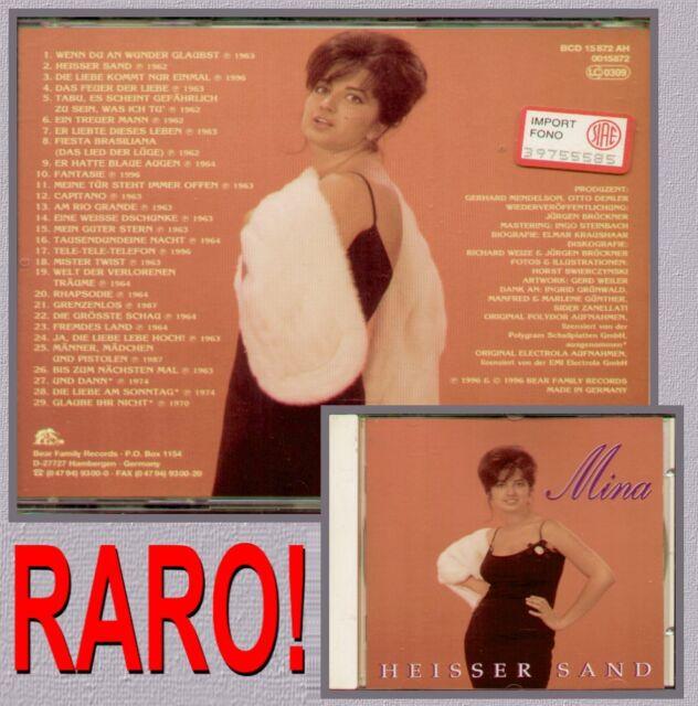 """MINA """" HEISSER SAND """" CD NUOVO 29 BRANI IN TEDESCO RARO 4000127158727"""