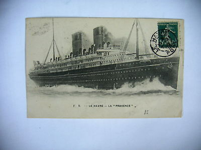 Cpa Le Havre Transatlantique La Provence 1909 Agradable Al Gusto