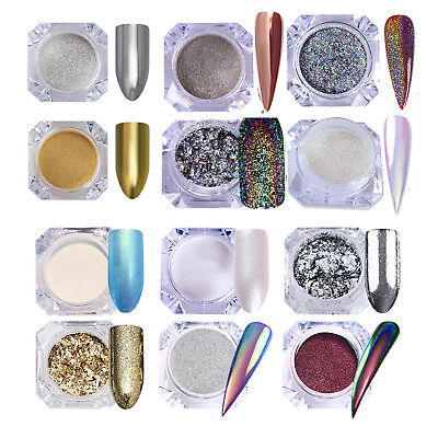 Born Pretty Holo Chameleon Nail Powder Flakies Chrome Mirror Laser Glitter Dust