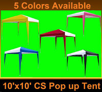 10' X 10' Pop Up Canopy Party Tent Ez Cs N - 6 Colors Available
