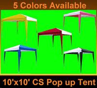 10' X 10' Pop Up Canopy Party Tent Ez Cs N - 6 Colors Available