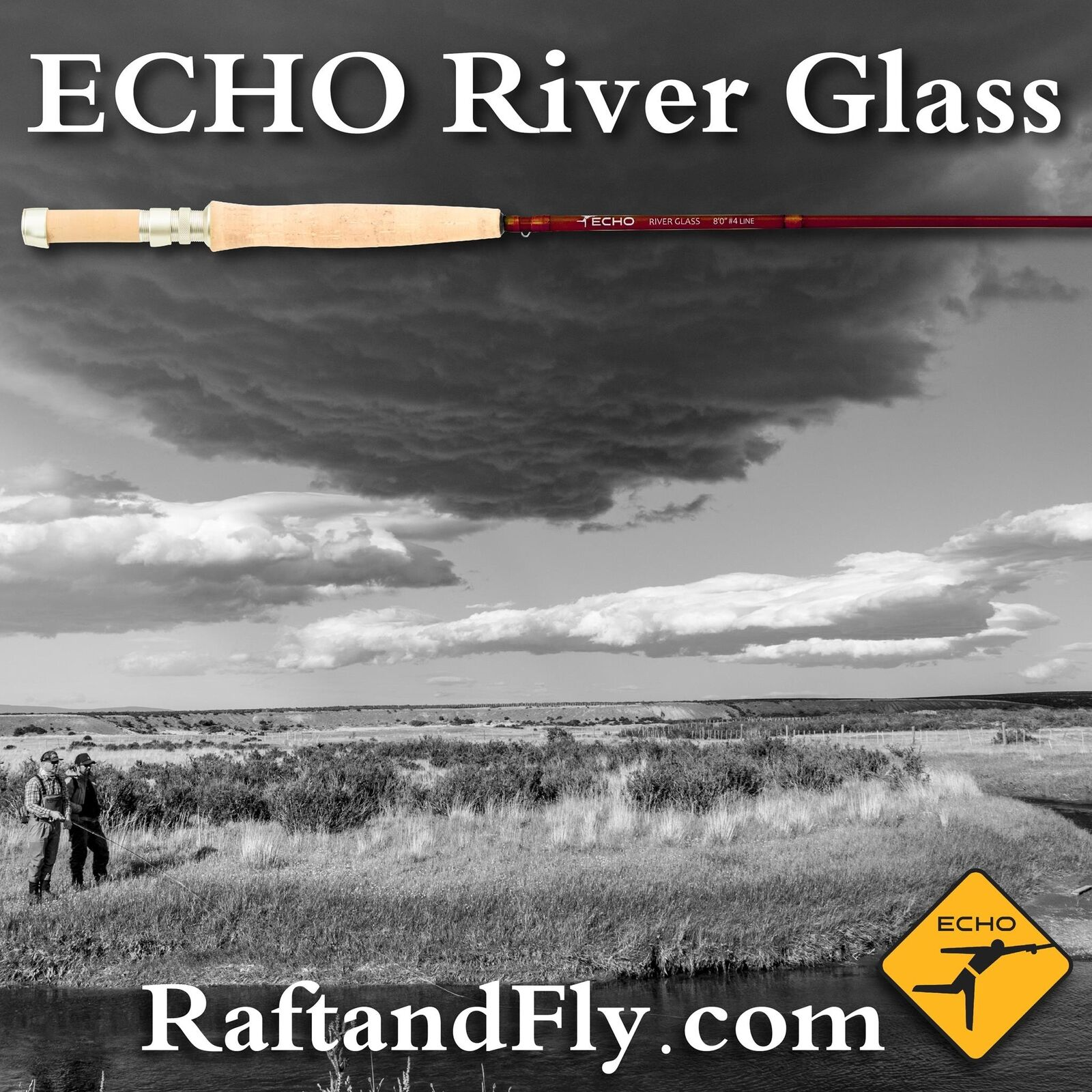 Caramelo de Color ámbar de vidrio Río Echo 4wt 8' 0  - Garantía De Por Vida-Envío Gratis