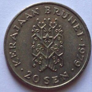 Brunei 1979 2nd Series 20 sen coin