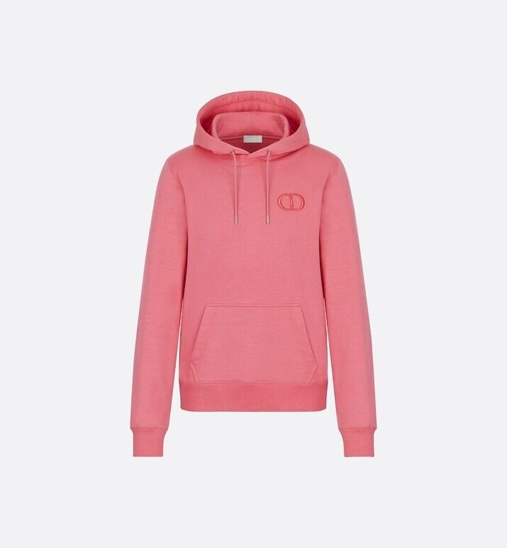 BRAND NEW UNWORN Christian Dior Mens ROSE Emboidered Hoodie 'CD' Small
