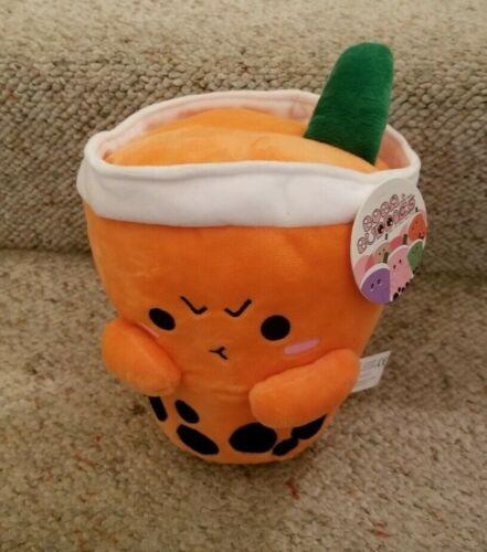 "CUTE BOBA TEA DRINK 10/"" PLUSH STUFFED TOY ORANGE /""TAI/"" THAI BRAND NEW!! SALE!"