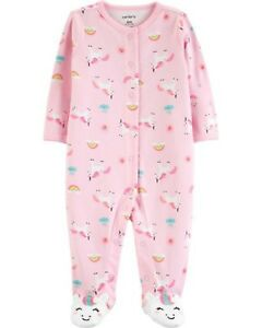 New Carter/'s Girl Sleep n Play Pink Dinosaur Print /& Footed NB 3m 6m NWT Girls