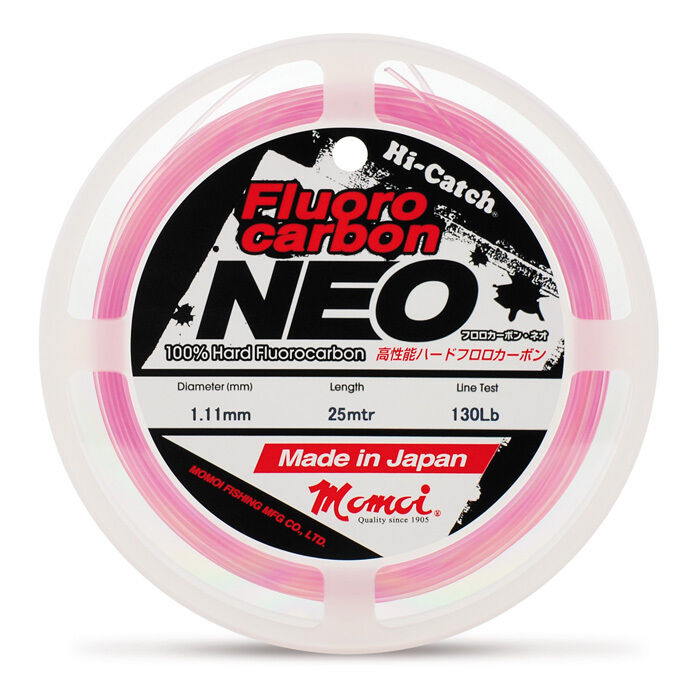 MONOFILAMENT FISHING HI CATCH  FLUgoldCARBON NEO 0 1 32in MOMOI 60 LB PINK LINE  outlet store