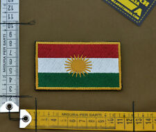 """Ricamata / Embroidered Patch """"Kurdistan Flag"""" with VELCRO® brand hook"""