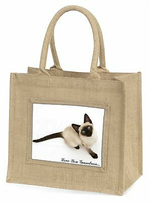 siamesische Katze' liebe Dich Oma 'Große natürliche jute-einkaufstasche Chri ,