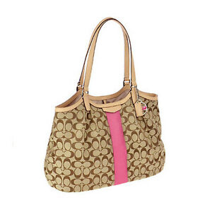 crzyj-Coach-Bag-F28503-SIGNATURE-STRIPE-12CM-DEVIN-SHOULDER-PINK-Agsbeagle