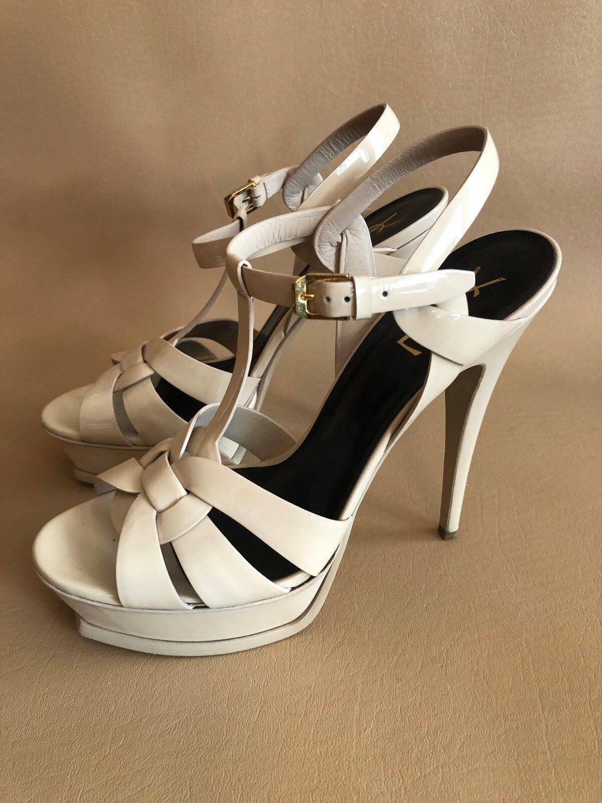 YSL Yves Saint Laurent Tribute T-Strap Platform Sandal Size 41