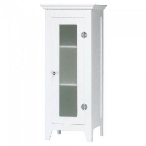Sm Storage Cabinet Laundry Room Slim Bathroom Linen Wall Shelves For Saver White