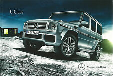 Mercedes-Benz G-Class UK Brochure 2013 70 Pages Incl G63 AMG & G350 BlueTEC