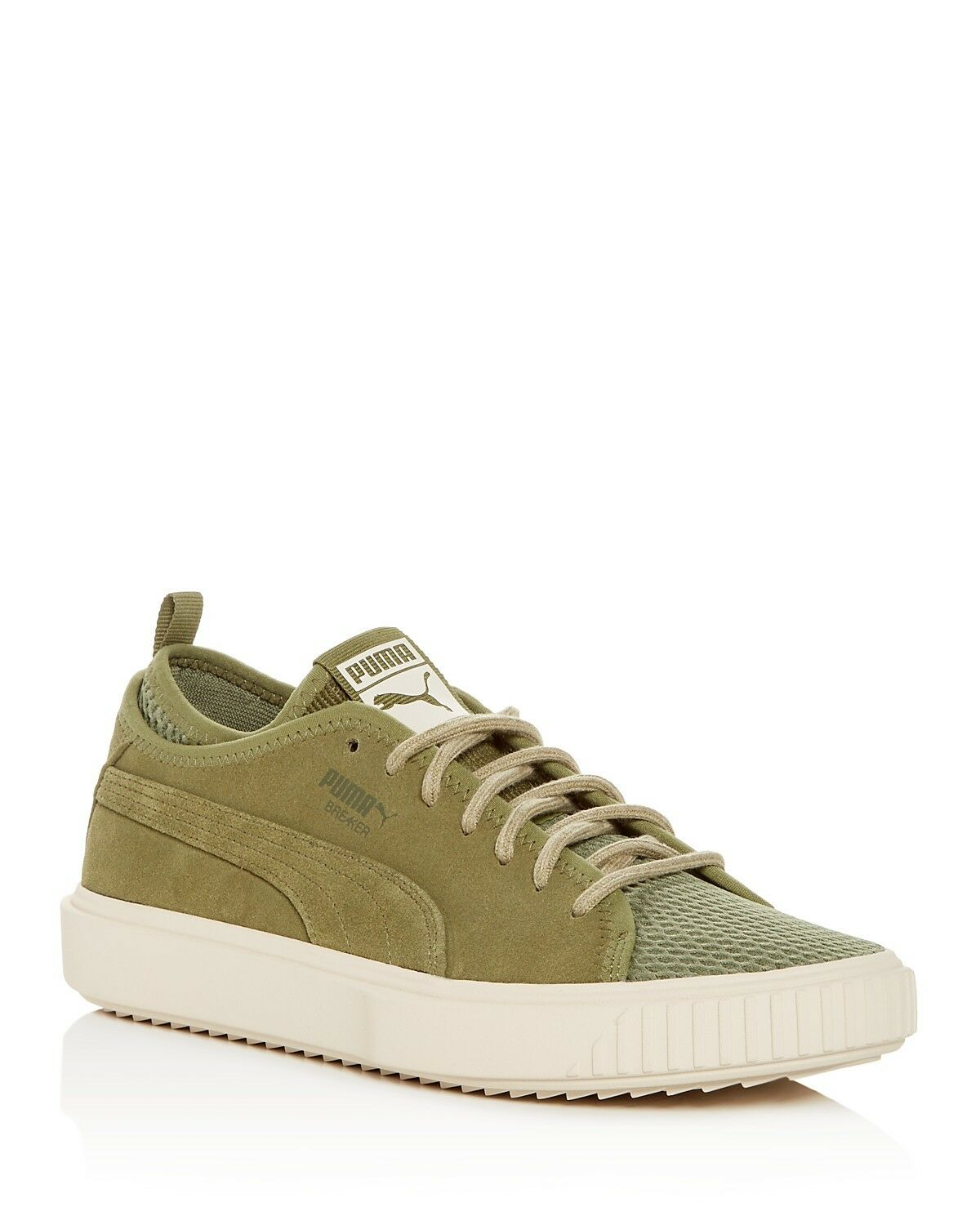 PUMA hommes Breaker Suede & Mesh Lace Up Sneakers Green