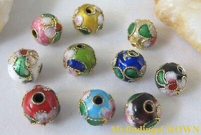 600pcs Mix color Cloisonne beads enamel spacer tube  #10414