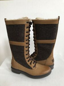 1be49a0596c Details about UGG ELVIA TALL CHESTNUT WATERPROOF LACE UP BOOT US 8.5 / EU  39.5 / UK 7 - NIB
