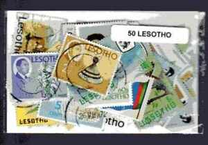 Lesotho-50-timbres-differents