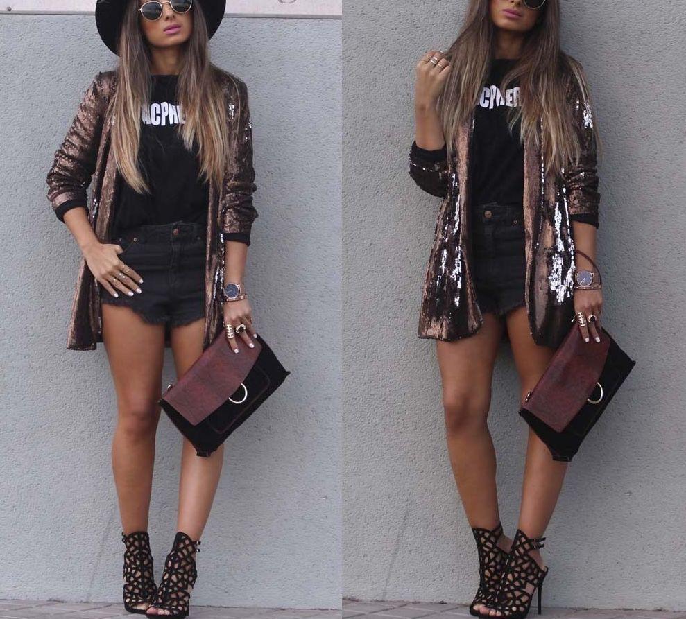 Zara Cooper Blazer With Sequins Größe M L