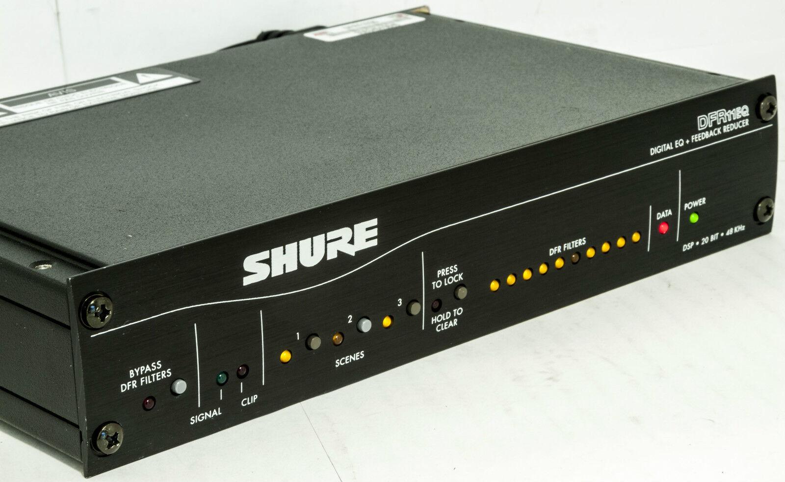 SHURE DFR11EQ5 Digital Signal Processor, Digtal EQ + rotucer Good Unit