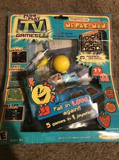 NEW Namco Plug and Play Jakks Ms Pac-man 5 in 1 Handheld TV Video Game