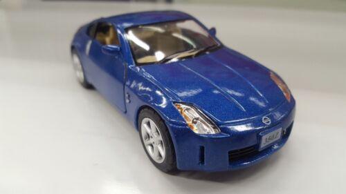 "New 5/"" Kinsmart Nissan 350Z 1:34 diecast model toy car fairlady KT5061D BLUE"