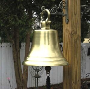 Aluminum-Bell-14-5-034-Antique-Brass-Finish-NEW