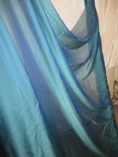 """1M  CATIONIC  NEW TURQUOSE  SOFT  DRESS CHIFFON FABRIC 58/"""" WIDE"""