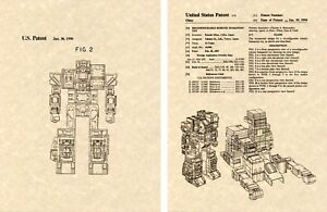 Transformers-FORTRESS-MAXIMUS-US-Patent-Art-Print-READY-TO-FRAME-Ohno-1987-G1