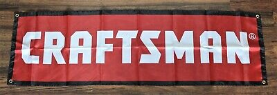 New Craftsman Tools Banner Flag 1.5 x 5 Hardware Store Man Cave Garage Red Tool