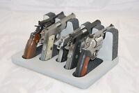 Pistol 5 Gun Rack Stand 501s Gray Cabinet Safe