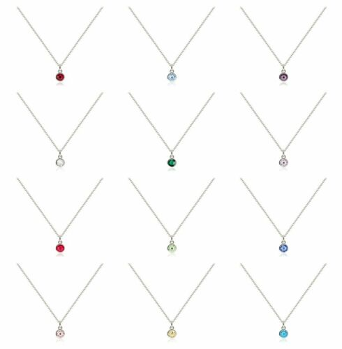 New 1set Birthstone Charms Pendant With Diy Necklace Chain 12 Colors For Choosen