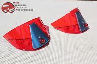 Red Plastic Headlight Headlamp Visor Bulb Trim Poker Golf Hat Cover Custom Car