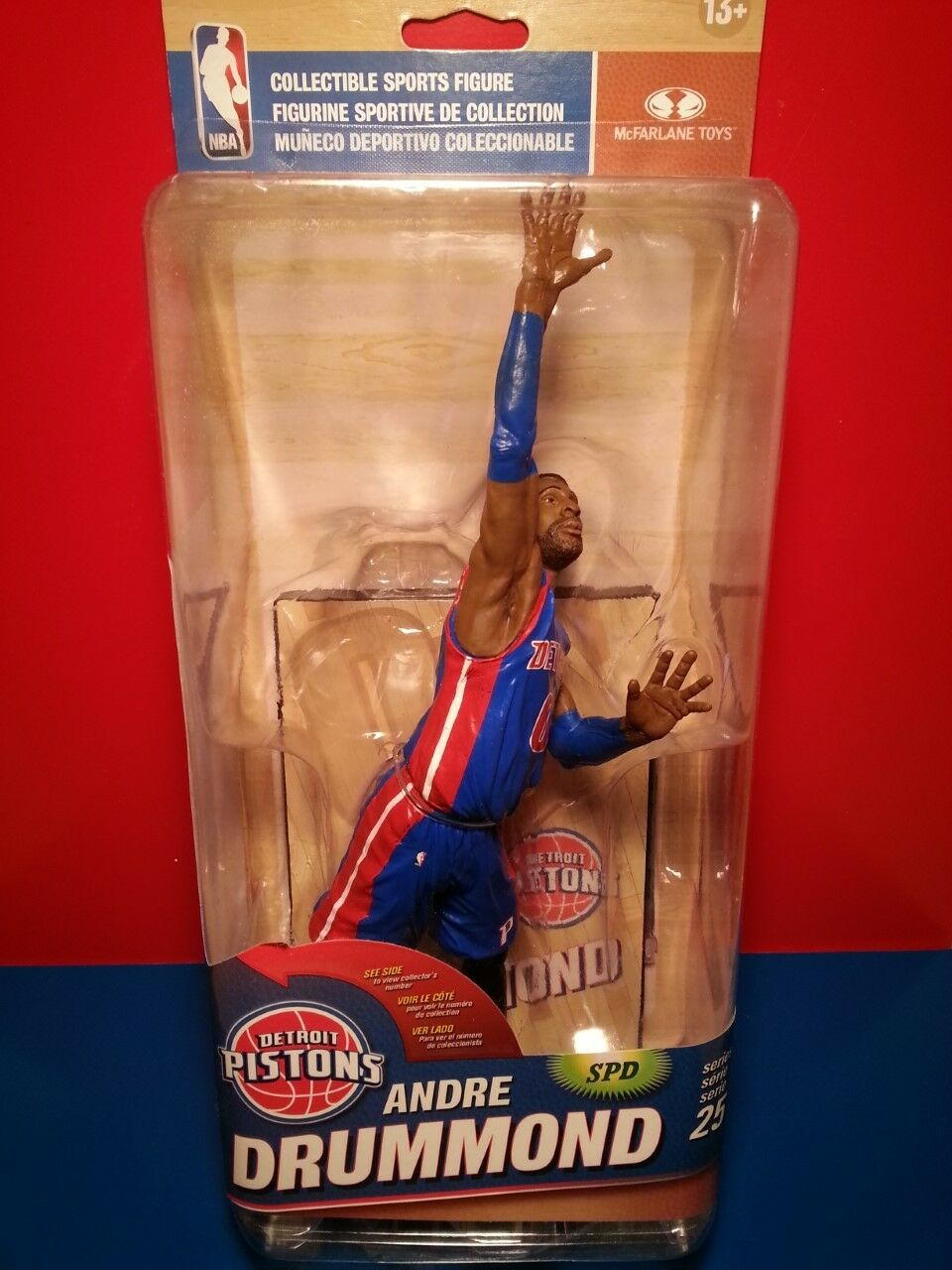 McFarlane NBA 25 Andre Drummond Collector Level  86 500 Detroit Pistons