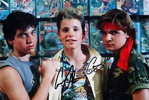 THE LOST BOYS CAST COREY HAIM AND FELDMAN SIGNED AUTOGRAPHED 8x10 RP PHOTO