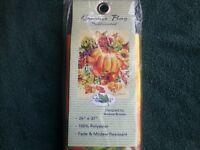 Garden Treasures Pumpkins Banner/flag Seasonal 25 X 37 100% Polyester