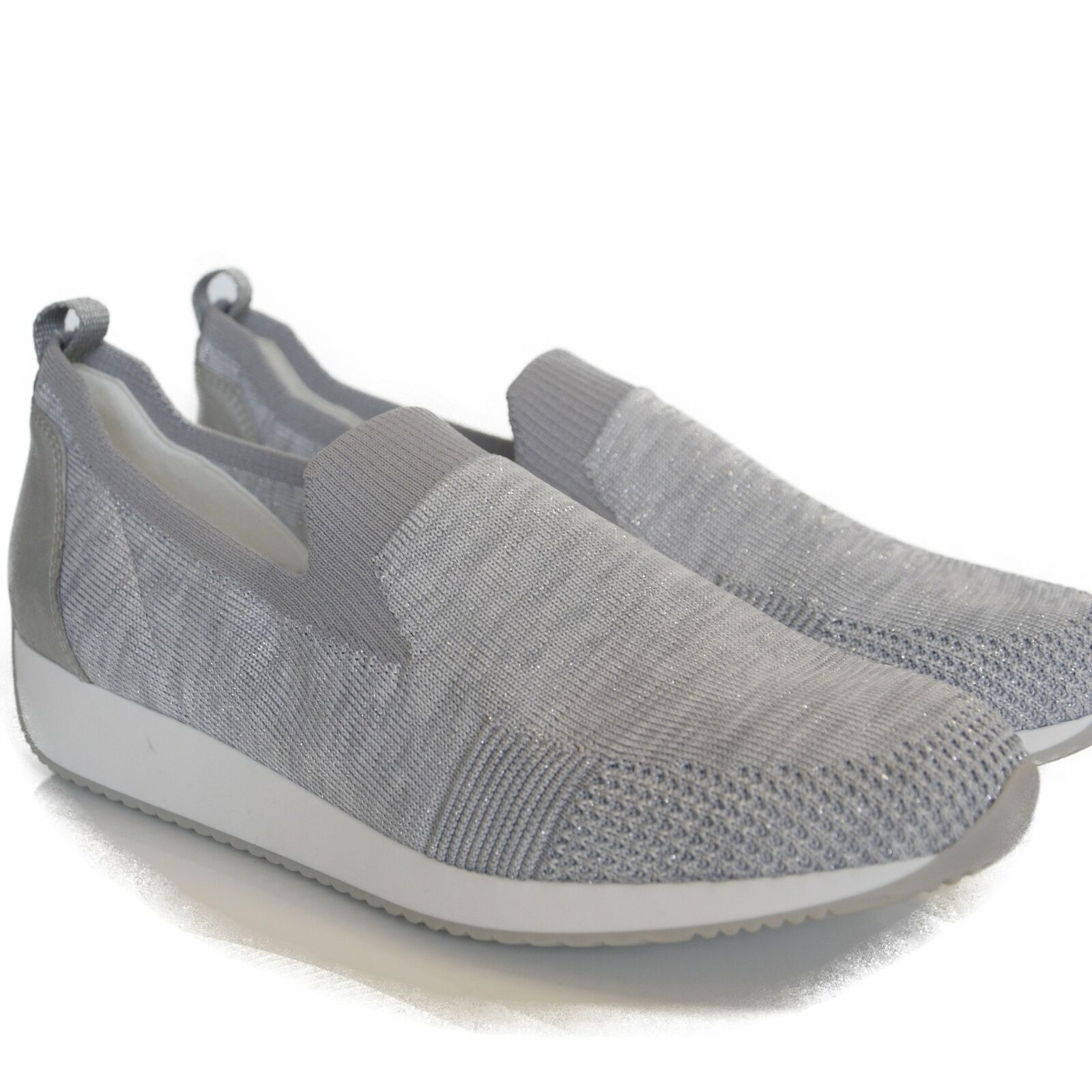 ARA MOCASSINI DONNA COMODI SLIP ON argento MULTI (GRIGIO)