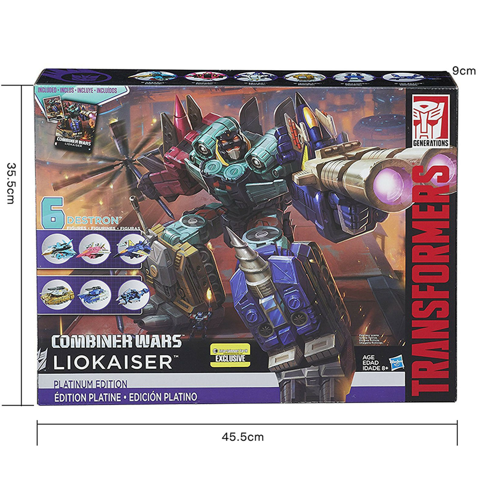 Transformers Platinum Edition Combiner Wars Generations LIOKAISER Action Robot