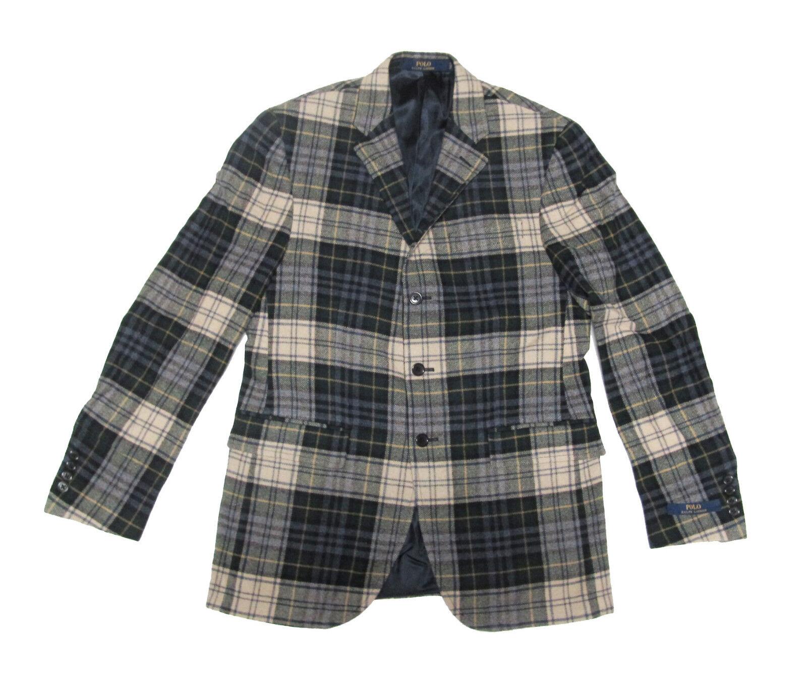 Polo Ralph Lauren herren  Winter wolleCashmere Plaid Sportcoat Blazer jacke