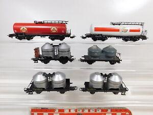 CC254-1-6x-Maerklin-H0-AC-Gueterwagen-DB-Avia-Esso-etc-Bastler-gut