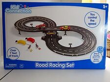 Kid Connection Road Racing Track Slot Car Set Headlights Work 5+