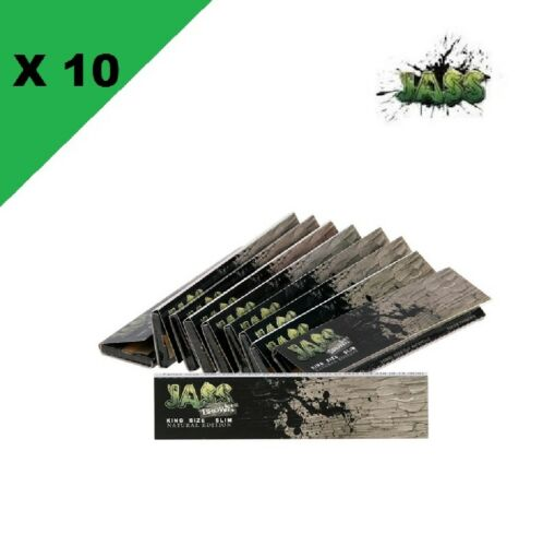 JASS Slim brown lot de 10 carnets de feuilles à rouler longue